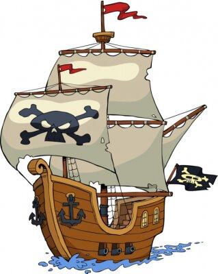 Sticker Pirate ship