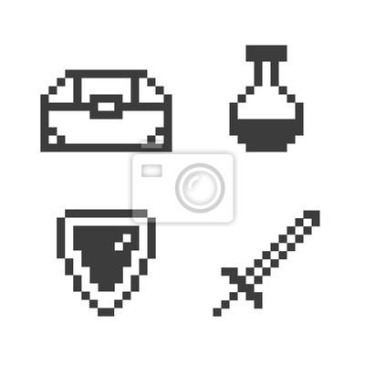 Sticker Pixel game set