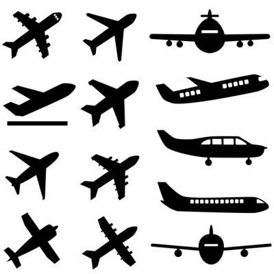 Sticker Planes in black