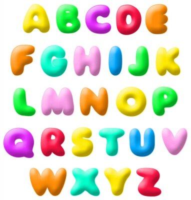 Sticker plasticine font