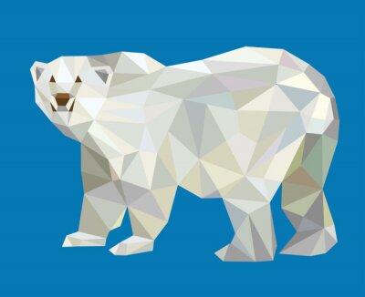 Sticker Polar bear low poly vector