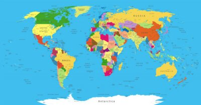 Sticker Political World Map
