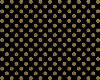 Sticker Polka pattern golden dot