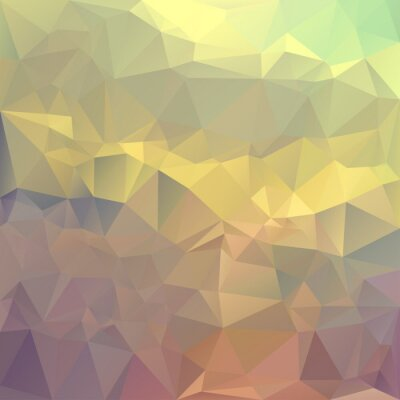 Sticker Polygonal mosaic abstract geometry background landscape in yello