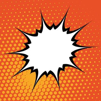 Sticker Pop art background
