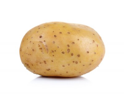 Sticker potato on white background