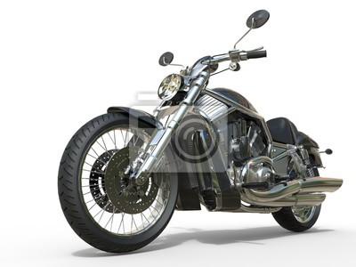 Sticker Powerful Vintage Motorcycle - Closeup