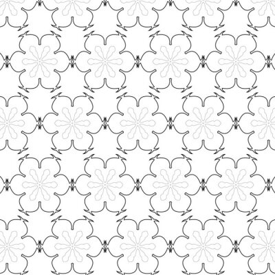 Sticker Primitive simple  grey retro seamless pattern