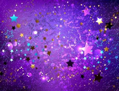 Sticker Purple background with stars