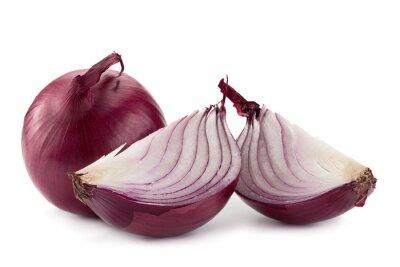 Sticker Purple onion on white