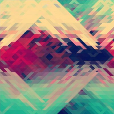 Sticker Rainbow colors triangular vector pattern