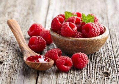 Sticker Raspberry jam with berry