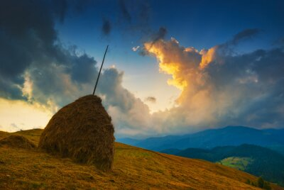Red Carpathian clouds