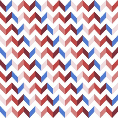 Sticker Red Chevron Seamless Pattern