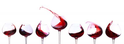 Sticker Red wine isolated on white