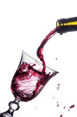 Sticker red wine splash