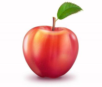 Sticker reifer Apfel, freigestellt