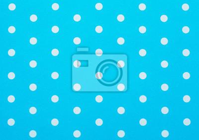 Sticker retro blue polka dot pattern