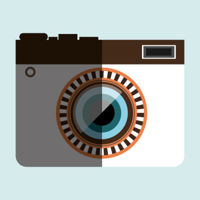Sticker retro camera design