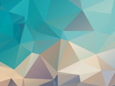Sticker Retro Color Background Triangular Shape