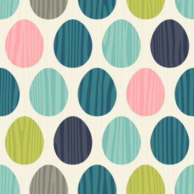 Sticker retro color vector seamless easter egg pattern