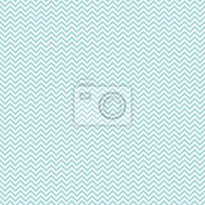 Sticker Retro Seamless Pattern Mini Chevron Turquoise