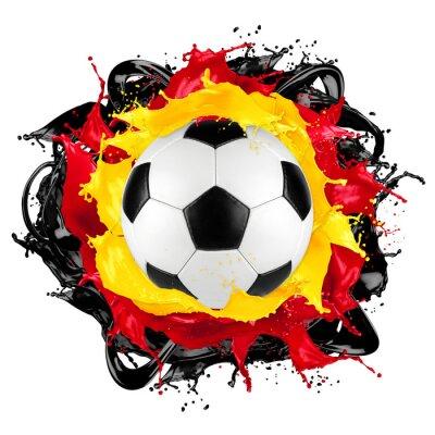 Sticker retro soccer ball german flag color splash