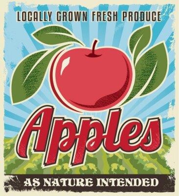 Sticker retro vintage apple label