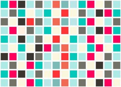 Sticker Retro Web Design Seamless Tiles - Mosaic Square Background Vector Texture
