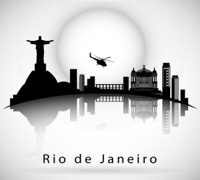 Sticker Rio de Janeiro Skyline