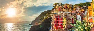 Sticker Riomaggiore panorama, Cinque Terre, Italy