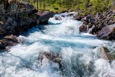 Sticker River in Norway