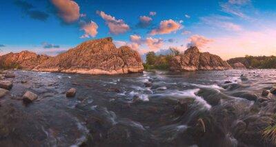 Sticker Rocky cascade on a Southern Bug river