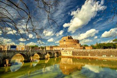 Sticker Rome - Castel saint Angelo, Italy