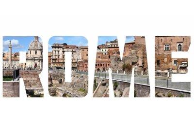 Sticker Rome sign