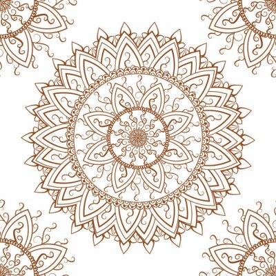 Sticker Round ornament seamless pattern
