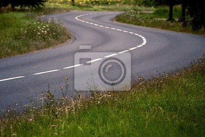 route en zigzag