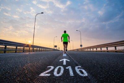 Sticker Run in new year 2016