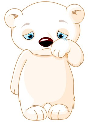Sticker Sad Polar Bear