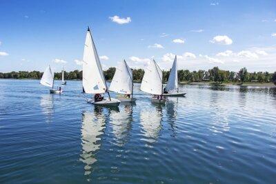 Sticker Sailing on the lake