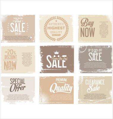 Sticker Sale retro grunge banner collection
