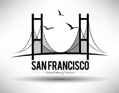 Sticker San Francisco Bridge