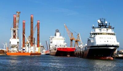 Sticker Schiffe im Hafen