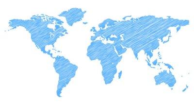 Sticker Scribble Weltkarte