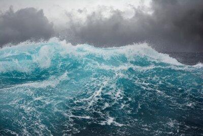 Sticker sea wave in the atlantic ocean during storm