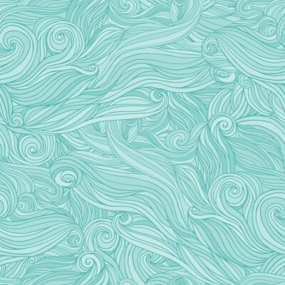 Sticker Seamless abstract pattern, tangle wavy hair background