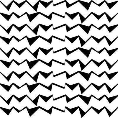 Sticker Seamless black and white decorative vector background with abstract geometric pattern