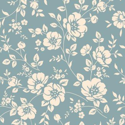 Sticker Seamless floral pattern