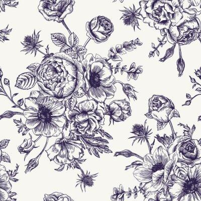 Sticker Seamless floral pattern.