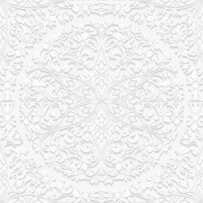 Sticker Seamless floral pattern in traditional style